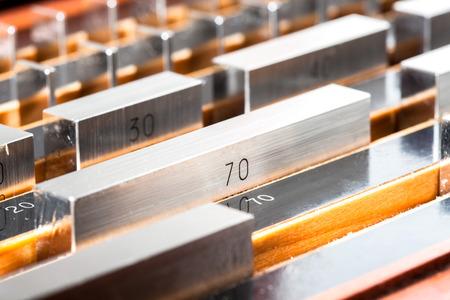 calibration: Blocco Gage per le apparecchiature dimensione calibrazione Archivio Fotografico