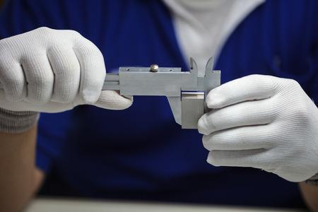 calibration: VERNIER Calibrazione con blocco calibro