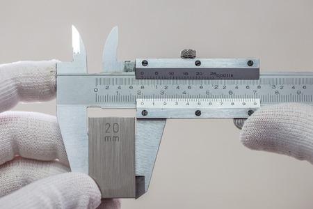 etalonnage: Calibration VERNIER avec le bloc de jauge