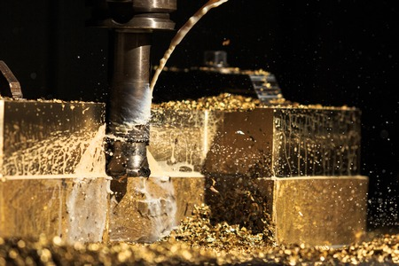 milling center: Bronze forming by CNC milling machine cutting
