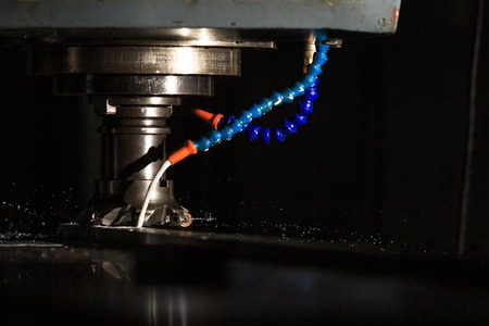 milling center: Metal forming by CNC milling machine cutting