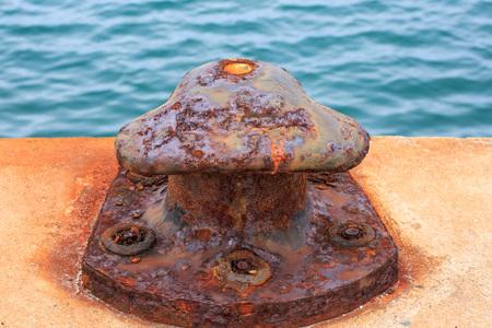 corrosion: Damage bollard by corrosion defect