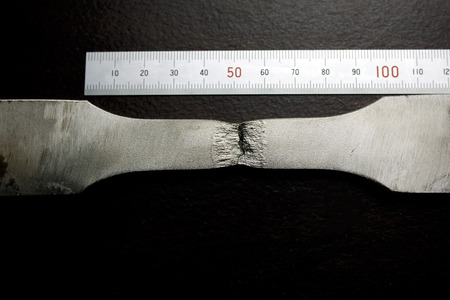 modulus: Fracture of tensile test coupon for evaluate strength of material
