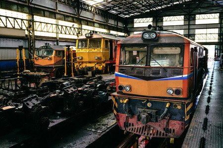 Repair and overhaul workshop for maintrainance Locomotive and Passenger car railroad