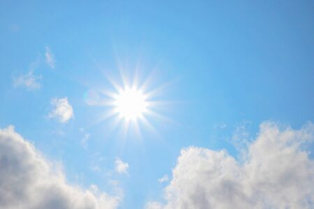 Shining sun and blue sky