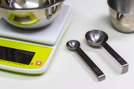 Weighing utensils for cooking