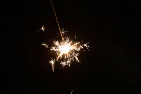 Sparkler in summer night