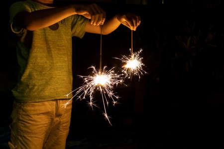 Enjoy sparklers on summer nights