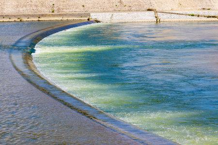 River flow with beautiful emerald color 版權商用圖片