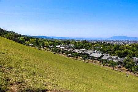 View from the slope at Mt. Wakakusa in Nara