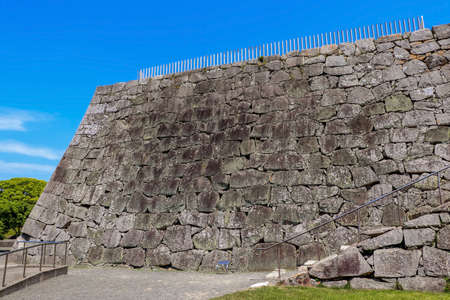 Large stone wall for castle tower in Ako, Hyogo