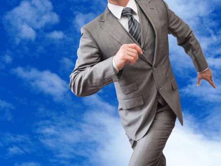 Lopende zakenman Stockfoto