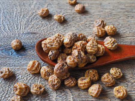 Tiger nuts on the table Stock Photo