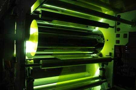 coating: UV Coating Plastic Film Stock Photo