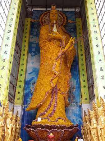 goddess of mercy: Goddess of Mercy Statue Stock Photo