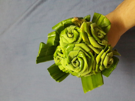 nus: Green Rose Made from Panda-nus Leaf