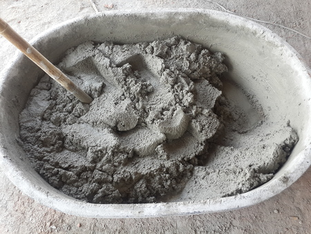 plastering: Mixing Cement for Plastering