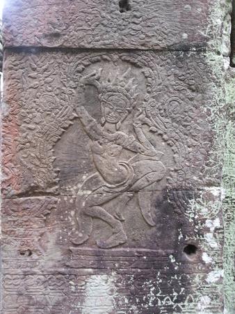 apsara: Apsara Dance Sculpture Stock Photo