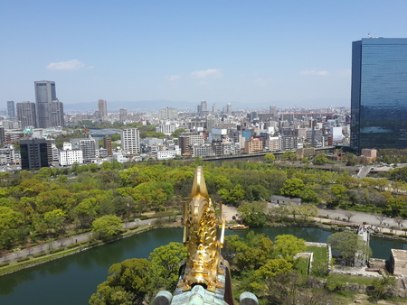 osaka castle: City View from Osaka Castle