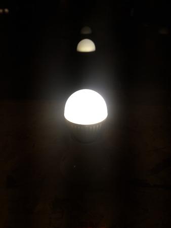 lumen: LED Lighting Lamp Reflection Stock Photo