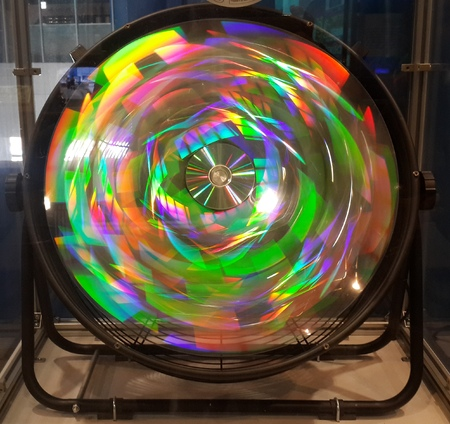 compact disc: Rainbow Color Reflection from Compact Disc Spinning