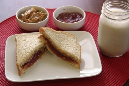 peanut butter and jelly: Peanut Butter   Jelly Sandwich