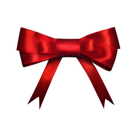 Vector decorative red bow. used for page decor.
