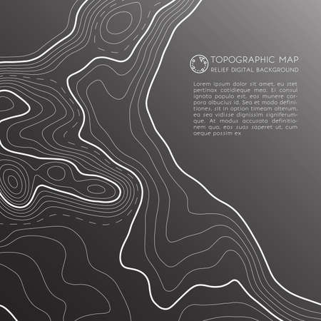Map line of topography. Vector abstract topographic map concept with space for your copy. Mountain hiking