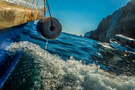 black sea: Action from boat, Black sea Stock Photo