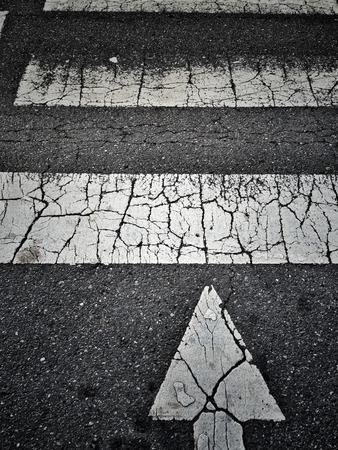 senda peatonal: patrón de cruce de peatones