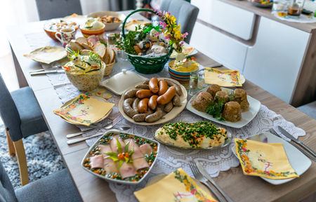 Traditional Eastern European meals.