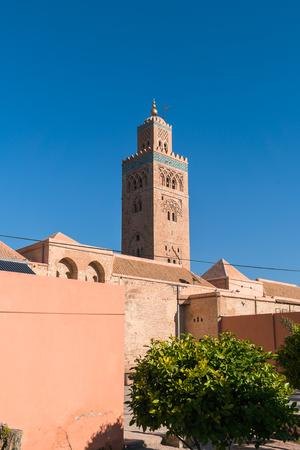 Koutoubia Mosque , Thf famous landmark of Marrakesh , Morocco