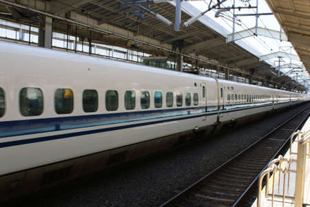 Japanese bullet train shinkansin in Kyoto railway station Stock Photo - 4018582