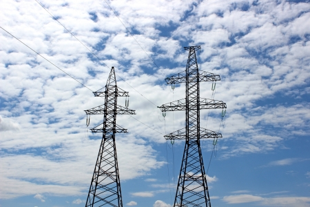 power lines: Electrical power lines