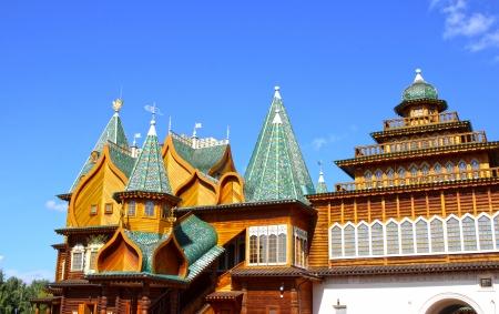 palacio ruso: Palacio de madera antigua del zar ruso Alexei Mijailovich en Mosc�
