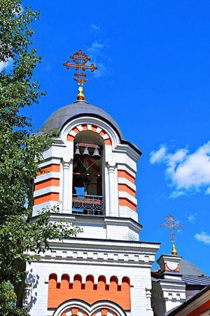michael the archangel: Shrine Chapel of the Archangel Michael near the Kutuzov hut in Moscow Stock Photo