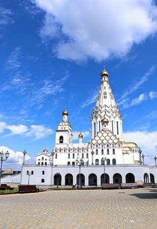 the believer: Memorial Church of All Saints in Minsk, Belarus Stock Photo