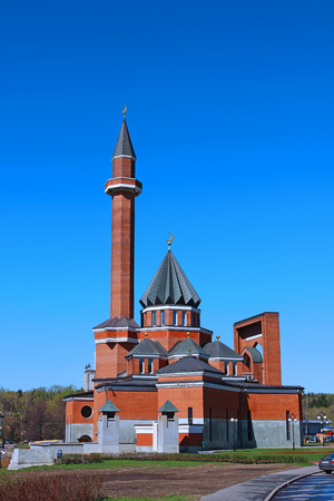 mohammedan: Muslim mosque on Poklonnaya Hill in Moscow