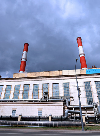 electric station: Industrial pipes heat electric station in Moscow