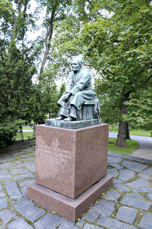 narrator: HELSINKI, FINLAND - JULY 11, 2015: Larin Paraske Monument in Helsinki Editorial