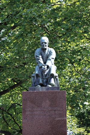 narrator: HELSINKI, FINLAND - JULY 9, 2015: Larin Paraske Monument in Helsinki