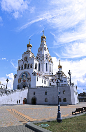holiness: Memorial Church of All Saints in Minsk, Belarus Stock Photo