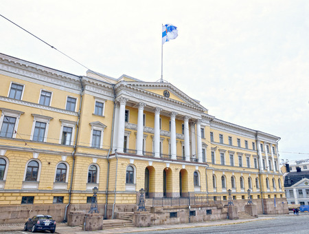 suomi: HELSINKI, FINLAND - JULY 6, 2015: Senate Building (Palace of the Government of Finland) in Helsinki