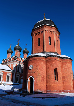 st  peter: Church of St. Peter in Vysokopetrovsky Monastery in Moscow on a sunny day