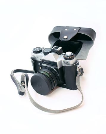 zenith: MOSCOW, RUSSIA - JANUARY 20, 2013: Old soviet film pfoto camera Zenith Editorial