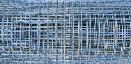 Welded: Background of galvanized stainless welded meshes Stock Photo