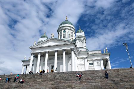 st nicholas cathedral: HELSINKI, FINLAND - JULY 6, 2015: Cathedral of St. Nicholas (Cathedral Basilica)