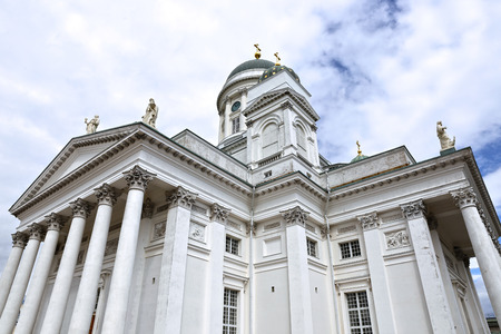 the believer: HELSINKI, FINLAND - JULY 6, 2015: Cathedral of St. Nicholas (Cathedral Basilica)