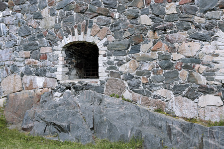 loopholes: HELSINKI, FINLAND - JUNE 8, 2015: The sea fortress of Suomenlinna (Sveaborg)