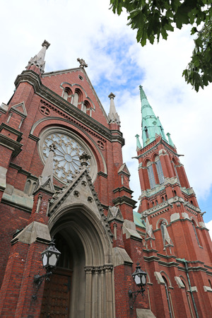 helsinki: HELSINKI, FINLAND - JUNE 7, 2015: St. Johns Church in Helsinki